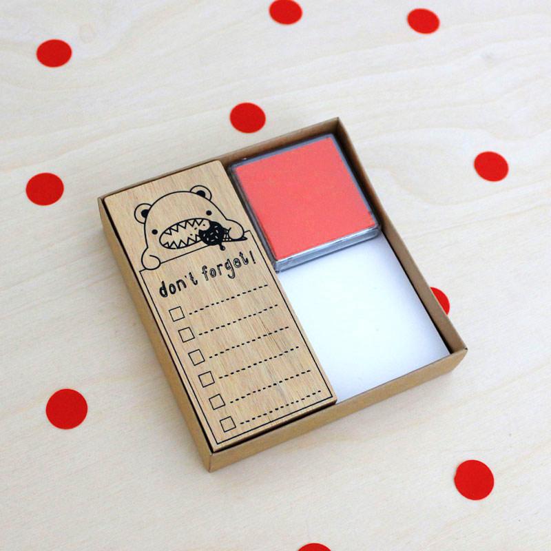 kit tampon don t forget ne pas oublier noodoll la malle confettis. Black Bedroom Furniture Sets. Home Design Ideas