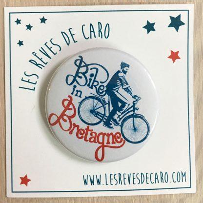cadeau badge vélo bretagne