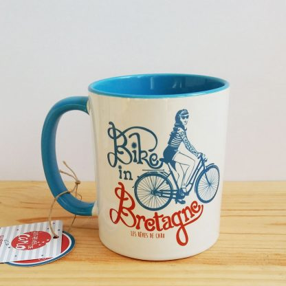 mug souvenir bretagne velo pin-up