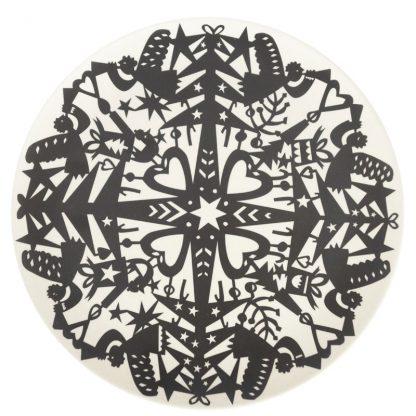 table vaisselle cadeau hiver noir