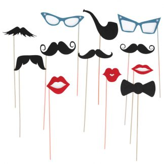 moustache bouche lunette party anniversaire