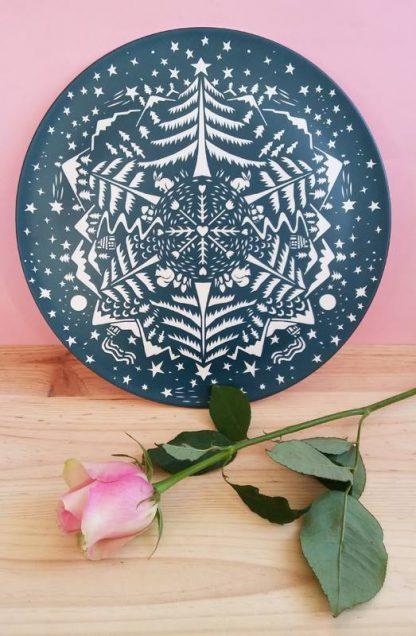 design table art assiette plat