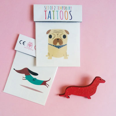 tattoo enfant carlin teckel pug