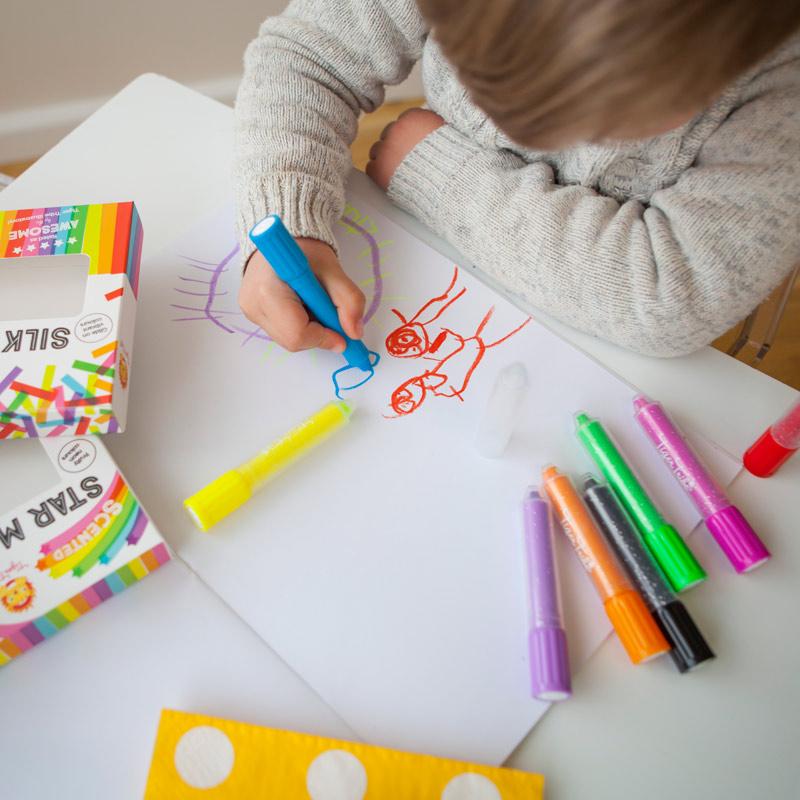 Silk crayons les pastels aux couleurs vibrantes tiger - Laisser libre cours a son imagination ...