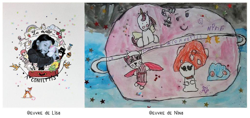 dessin dessiner concours licorne doudou veilleuse paillettes