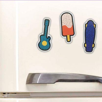 aimant frigo cadeau skate guitare glace