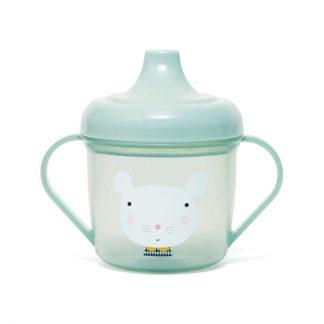 gobelet plastique bebe cadeau naissance vert menthe