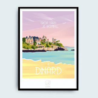 poster bretagne ville bretonne décoration maison bord de mer