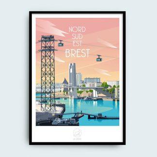poster decoratif finistere bretagne breton souvenir cadeau deco