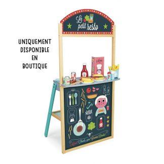 jouet bois jeu 'imitation fast food restaurant cuisine