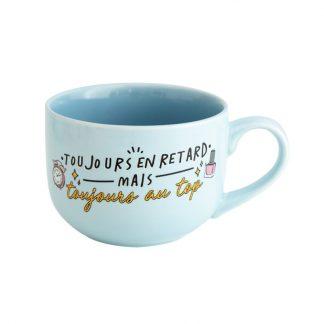 tasse cadeau retardataire petit dejeuner cafe bol