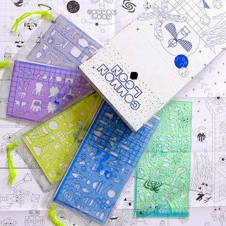 dessin pochoir coloriage créativité enfant cadeau original