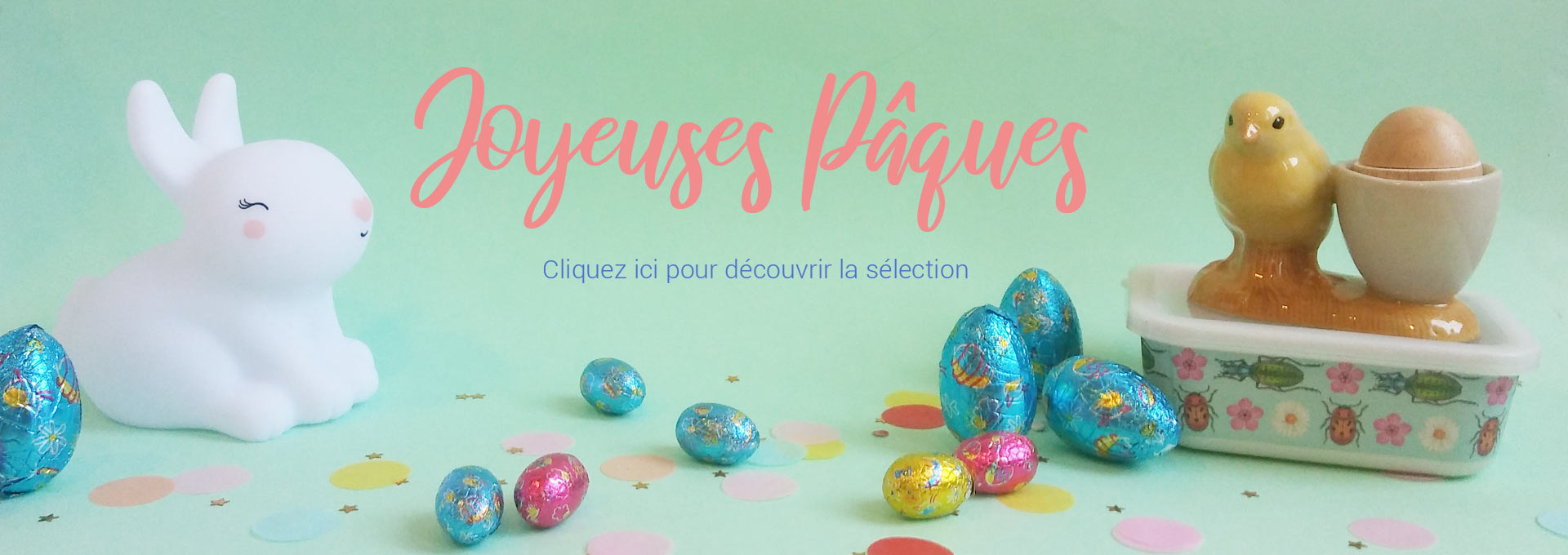 selection easter kid basket chocolat decoration