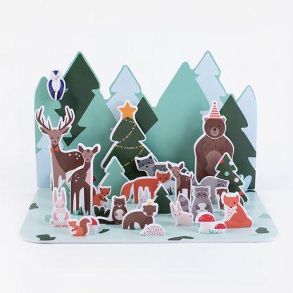 noel christmas calendrier creatif art animal decoration enveloppe surprise