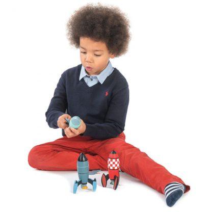 jouet en bois cadeau anniversaire noel enfant garcon astromonie systeme solaire planete conquete espace
