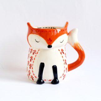 mug xl fox cadeau automne copine anniversaire noel cremaillere collegue cafe chocolat chaud