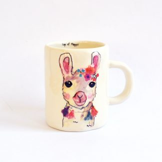cadeau tasse cafe mug chocolat llama animal fleur