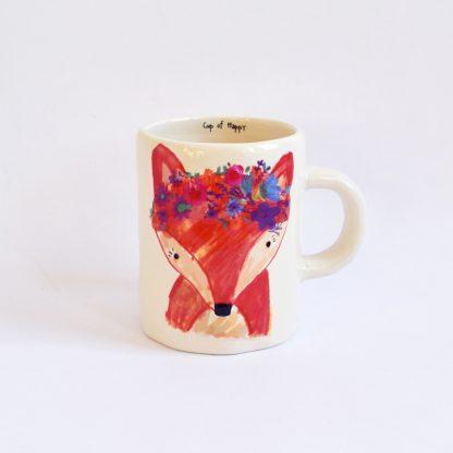 mug ceramique cadeau feminin fox art