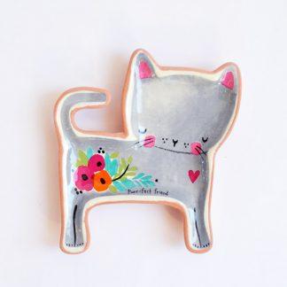 cadeau copine decoration bff anniversaire amie chaton fleur amitié
