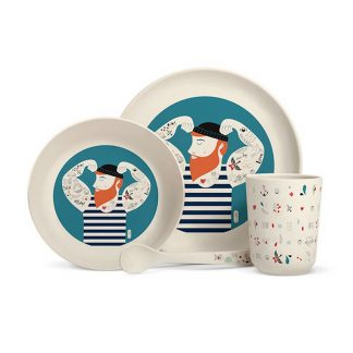 cadeau naissance bebe anniversaire manger table baptème breton mer ocean barbu