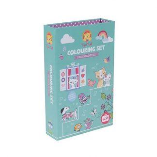 cadeau anniversaire fille copine dessiner colorier chat chien animaux coeur arc-en ciel
