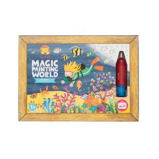 cadeau anniversaire deux ans mixte activite manuelle art creatif coloriage plongee sous marine animaux marins mer