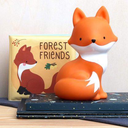 cadeau naissance anniversaire noel enfant nourrisson animal sauvage foret fox