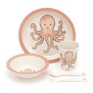 cadeau de naissance poulpe bebe repas manger baby shower bapteme noel anniversaire