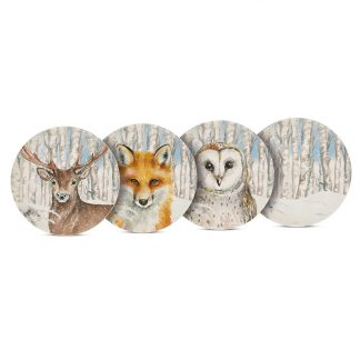 cadeau noel table animal sauvage hiver