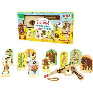 cadeau enfant garcon copain anniversaire indien desert cactus noel bison amerique illustration