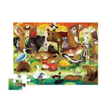 cadeau noel anniversaire 4 ans enfant animal sauvage bois ours cerf renard jeu jouet observation patience motricite eveil