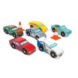 cadeau jouet en bois enfant garcon anniversaire noel garage bolide engin