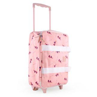 vacance voyage valisette rose cadeau travel with kid avion aeroport